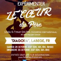 """Flyer de l'""""Evènement : Expérimenter le coeur du Père"""" organisé par l'association Fatherheart France"""